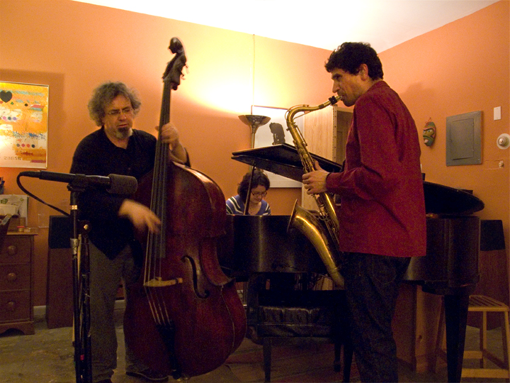 Stephen Gauci/ Kris Davis/ Mike Bisio at the 4C Cafe, New York City